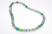 Alexander Kalifano WHITE-NGG-31 White Tag Gorgeous Glass Necklace - Multicolored