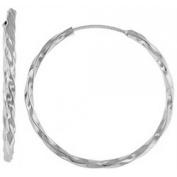 Doma Jewellery DJS02303 Sterling Silver (Rhodium Plated) Earrings Huggy