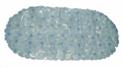 Carnation Home Fashions, Inc Pebbles Look Vinyl Bath Tub Mat, Slate Blue, 36cm x 70cm