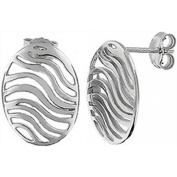Doma Jewellery DJS02471 Sterling Silver (Rhodium Plated) Earring