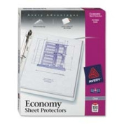 Avery Consumer Products AVE75091 Sheet Protector- Economy Weight- 28cm .x8-.130cm .- Clear