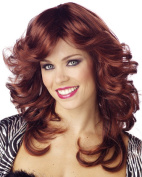 Auburn red 70's flick wig - Discorama Mama long wig - disco, Charlies Angels