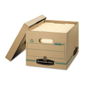 Bankers Box FEL1277601 Stor-File Storage Box Letter-Legal Lift-off Lid Kraft-Green 12-Carton