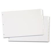 Cardinal 84270 Write n Erase Tabloid Index Dividers 5-Tab White