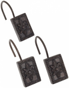 Carnation Home Fashions Carlisle Ceramic Resin Shower Curtain Hook, Oil Rubbed Bronze