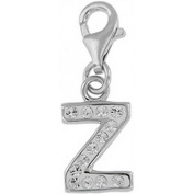 Doma Jewellery DJS01644 Sterling Silver and Crystal Initial Charm - Z