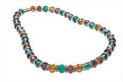 Alexander Kalifano WHITE-NGG-02 White Tag Gorgeous Glass Necklaces - Multi-Coloured