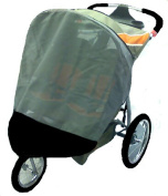 Sasha's Kiddie Products Baby Trend Double Expedition Swivel Wheel Jogger Sun, Wind and Insect