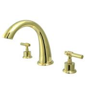 Kingston Brass KS2362ML 8 Inch -18 Inch Widespread Roman Tub Filler - Polished Brass