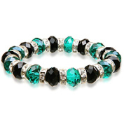 Alexander Kalifano BLUE-BGG-18 Gorgeous Glass Bracelets - Green and Black