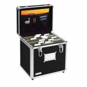Ideastream Products IDEVZ01165 Locking File Box- Letter- 13-.190cm .x10-.130cm .x13-.130cm .- Black