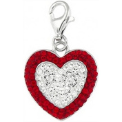 Doma Jewellery DJS01522 Sterling Silver and Crystal Charm - Heart
