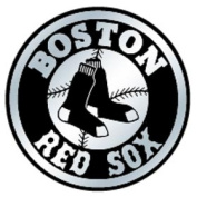 Caseys Distributing 8162053055 Boston Red Sox Silver Auto Emblem