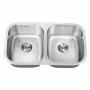 Ruvati RVM4300 Undermount 16 Gauge 83.8cm . Kitchen Sink Double Bowl