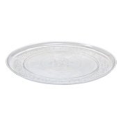 Party Dimensions 60244 30cm . Clear Plastic Round Trays - 25 Per Case
