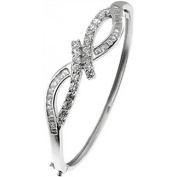 Doma Jewellery DJS01222 Sterling Silver Bangle with CZ