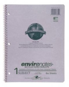 Roaring Spring Paper Products 13340 One Subject Recycled Notebook - 80 Sheets Per Book