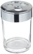 Carnation Home Fashions BA-ACR-TB Clear Acrylic Tooth Brush Holder with Chrome