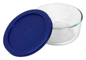 World Kitchen 2 Cup Storage Plus Round Dish With Plastic Cover 6017399 - Pack of 6