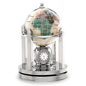Alexander Kalifano G80BS-OPL 7.6cm Gemstone Globe with Bright Silver Rotating Stand - Opalite