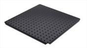 Alligator Board ALGSTRP16x16PTD-BLK Black Powder Coated Metal Pegboard Panels with Flange - Pack of 2