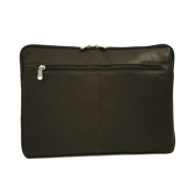 Piel Leather 2894-CHC 17In Zip Laptop Sleeve - Chocolate