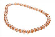 Alexander Kalifano WHITE-NGG-27 White Tag Gorgeous Glass Necklaces - Amber