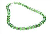 Alexander Kalifano WHITE-NGG-10 White Tag Gorgeous Glass Necklaces - Peridot