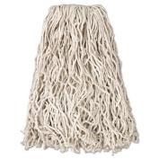 "Economy Cut-End Cotton Wet Mop Head, 20oz, 1"" Band, White, 12/Carton"
