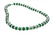 Alexander Kalifano WHITE-NGG-25 White Tag Gorgeous Glass Necklaces - Emerald