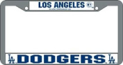 Los Angeles Dodgers Official MLB 30cm x 15cm Chrome Licence Plate Frame by Rico Industries