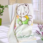 Blancho Bedding XY-BLK001-33.5by45.3 Little Bear Coro Polar Fleece BabyThrow Blanket
