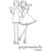 Stamping Bella LL134 Stamping Bella Unmounted Rubber Stamp-Uptown Girls Victoria and Juliette