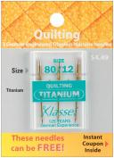 Tacony Corporation A5106T Klasse Titanium Quilting Machine Needles-80-12 3-Pkg