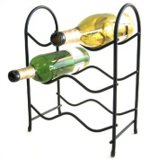 Spectrum 48210CAT Metro Wine Rack- 6 Bottle - Black