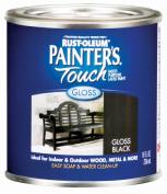 Rustoleum .50 Pint Gloss Black Painters Touch Multi-Purpose Paint 1979-730