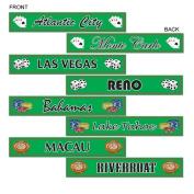 Beistle 54388 Gambling Destination Street Sign Cutouts - Pack of 12