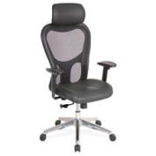 Lorell LLR85035 Executive High-Back Chair- 24-.88in.x23-.63in.x52-.88in.- Black
