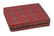 Mabis 513-7606-9910 High-Density Foam Wheelchair Cushion- 16 x 18 x 4 - Plaid