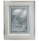 Lawrence Frames 720080 Lawrence Frames 8x10 Metal Picture Frame Silver-Plated Step