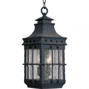Maxim Lighting 30088CDCF Nantucket 3 Light Outdoor Hanging Lantern