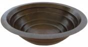 Novatto TCU-006AN MATAMORAS Round Tiered Copper Bath Sink with Antigua Finish 17-Inch Width