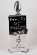 Forked Up Art S33 Brochure Holder - Spoon