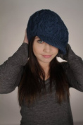 Nirvanna Designs CH401 Cable Beret Cap with Fleece Band - Teal