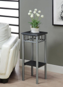 Monarch Specialties I 3094 Black - Silver Metal Plant Stand
