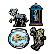 Day of the Dead Pet Cutouts Party Accessory (1 Count) (4/pkg) Pkg/3