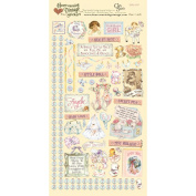 Heartwarming Vintage Cardstock Stickers 15cm x 30cm Sheet-Baby Girl