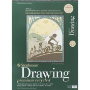 Strathmore ST443-18 46cm . x 60cm . 400 Series Wire Bound Recycled Drawing Paper - 24 Sheets