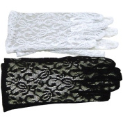 White Lace Gloves Adult Halloween Accessory