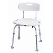 Carex Health Brands B65877 Bath And Shower Seat With Back